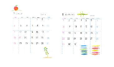 カレンダー7.8月