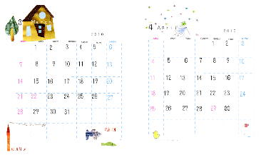カレンダー3.4月