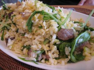 水菜チャーハン