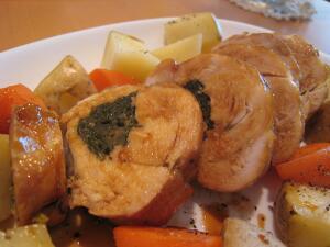水菜の鶏胸ロール