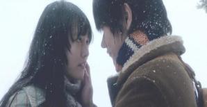 雪の中。直子とキスのあと。