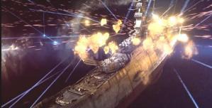 ガミラス艦隊の攻撃を受けているヤマト