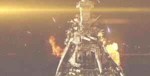 ガミラス艦の攻撃を受けながら、進撃するヤマト