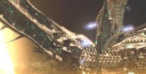 ヤマトを攻撃するガミラス艦