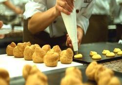 料理学校での実習