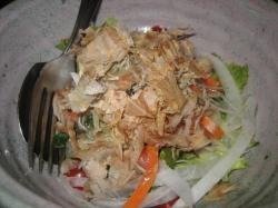 削り節たっぷりのサラダ