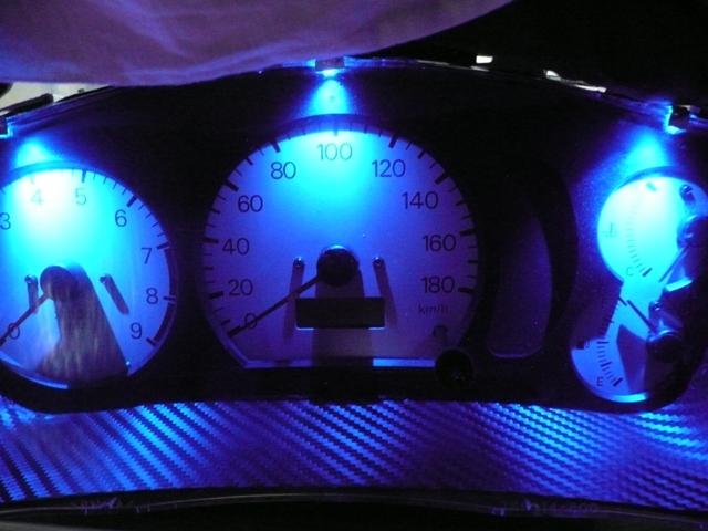 スピードメーターパネル自作イルミ照射 (7)