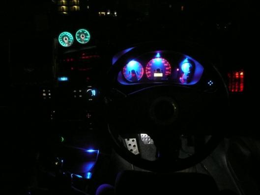 スピードメーターイルミ 自作LED化取り付け (6)