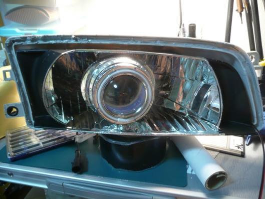 側面発光LEDヘッドライト仕込み (1)
