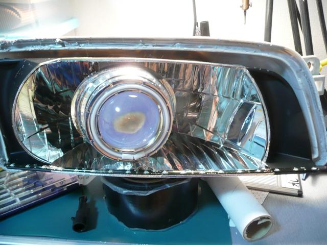側面発光LEDヘッドライト仕込み (4)