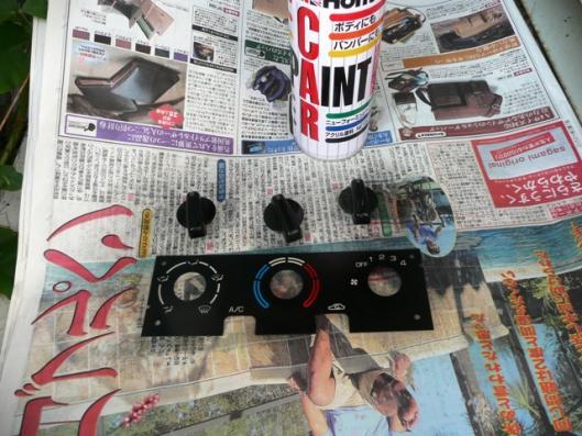 エアコンパネルクリアー塗装 (3)