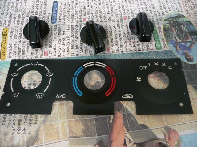 エアコンパネルクリアー塗装 (4)