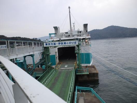伊良湖行きフェリー