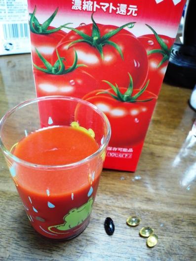 トマトジュース & サプリ