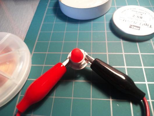 赤色拡散キャップ取り付け