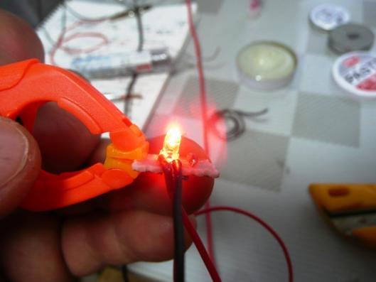 日亜赤色LED一発仕様 発光テスト ②
