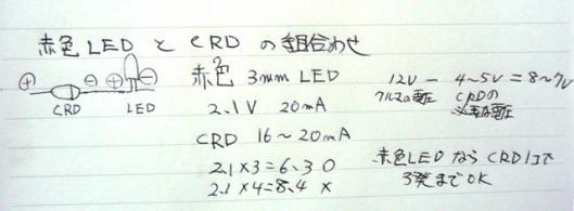 赤色LED と CRD の計算