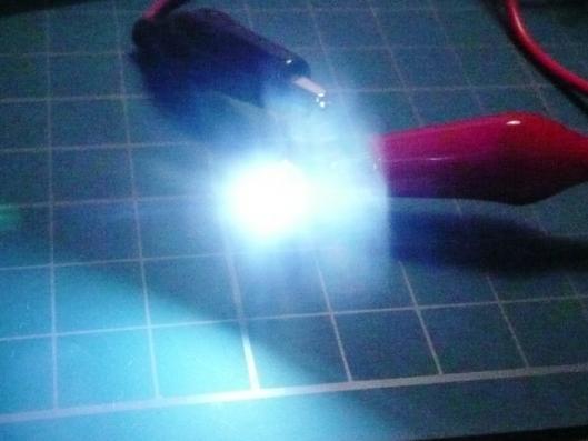 日亜爆光LED発光テスト