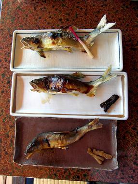 鮎 3種焼き