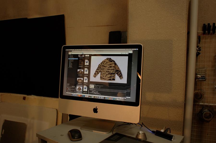 実物タイガーストライプ写真集の撮影