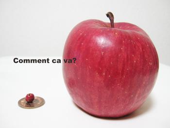 本物のりんごと