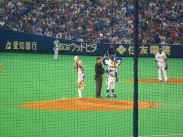 ナゴヤドーム20100326始球式
