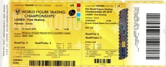 2010フィギュア世界選手権チケット