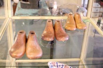 英国アンティーク 木製靴型 子供用