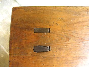 古道具 木味の踏み台 スツール