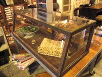 店舗什器 古いガラスショーケース 古道具