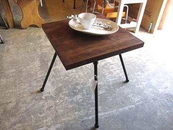 リメイク家具 古木の回転テーブル リデザイン