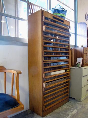 古い糸ケース 店舗什器 ディスプレイ
