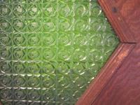 ミドリの型押し・花ガラス