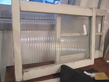 白ペイント モールガラスのミニ窓枠