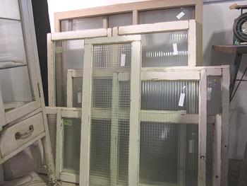 モールガラス 白ペイントの窓枠 各種サイズ