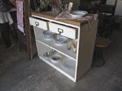 re-design 古木×白ペイントのキッチンカウンター