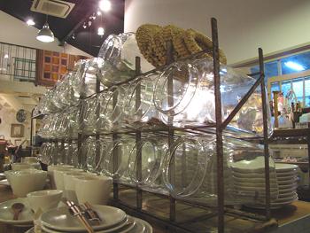 ディスプレー什器 駄菓子屋さんのガラスビンケース