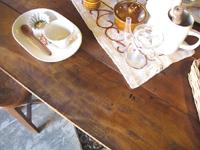 Redesignリメイク家具シャビーシック×古木テーブル