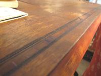 リメイク家具。工業ミシン脚×ディスプレー台・古道具付き