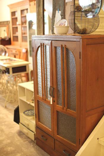 昭和レトロ 木製キャビネット陳列棚