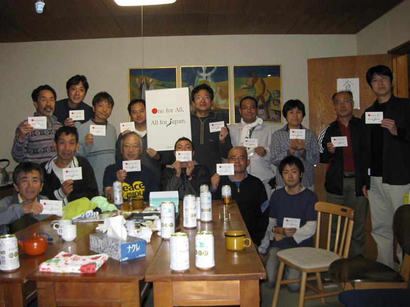14.ONE FOR ALL  ALL FOR JAPAN 釜石教会食堂-s