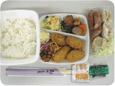 牡蠣フライ弁当+シューマイ