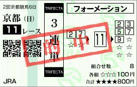 2010きさらぎ賞・3連単
