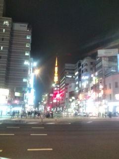 東京タワーの向こうに六本木ヒルズ