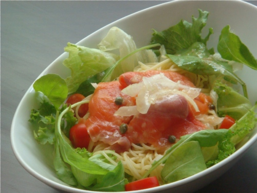 Salmon Salad Spaghetti Web
