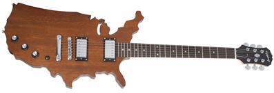 USA Map Guitar