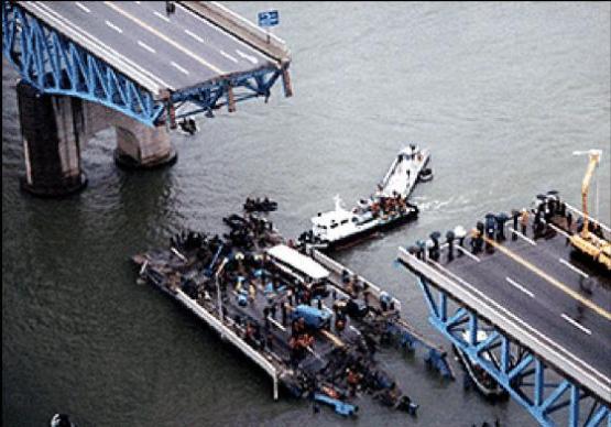 崩落したソウルの聖水大橋
