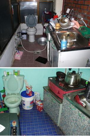 韓国の一般家庭 これなら料理しながら簡単に用を足すことが出来る。