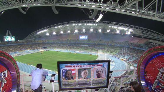 韓国大邱の世界陸上、観客席はガラガラで、上の方には誰も居ない