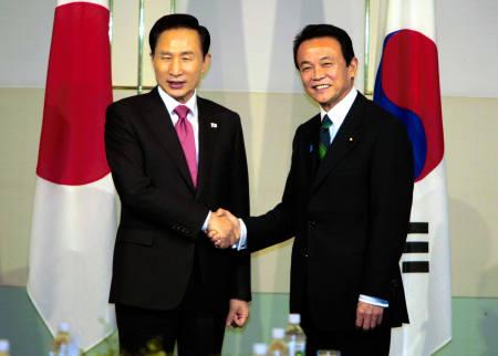 2008年12月13日日韓首脳会談で日韓通貨スワップの融通和枠拡大合意